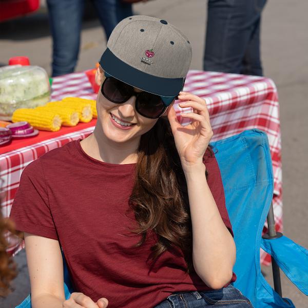 strawberry cap girl
