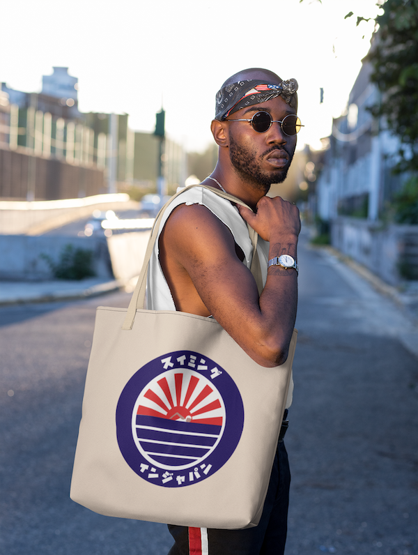 swimminginjapan tote bag